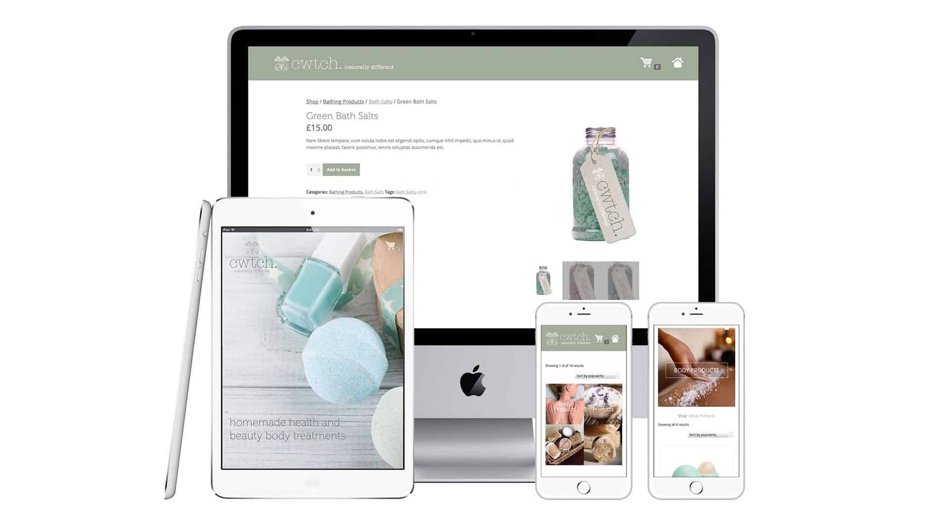 Cwtch eCommerce website design