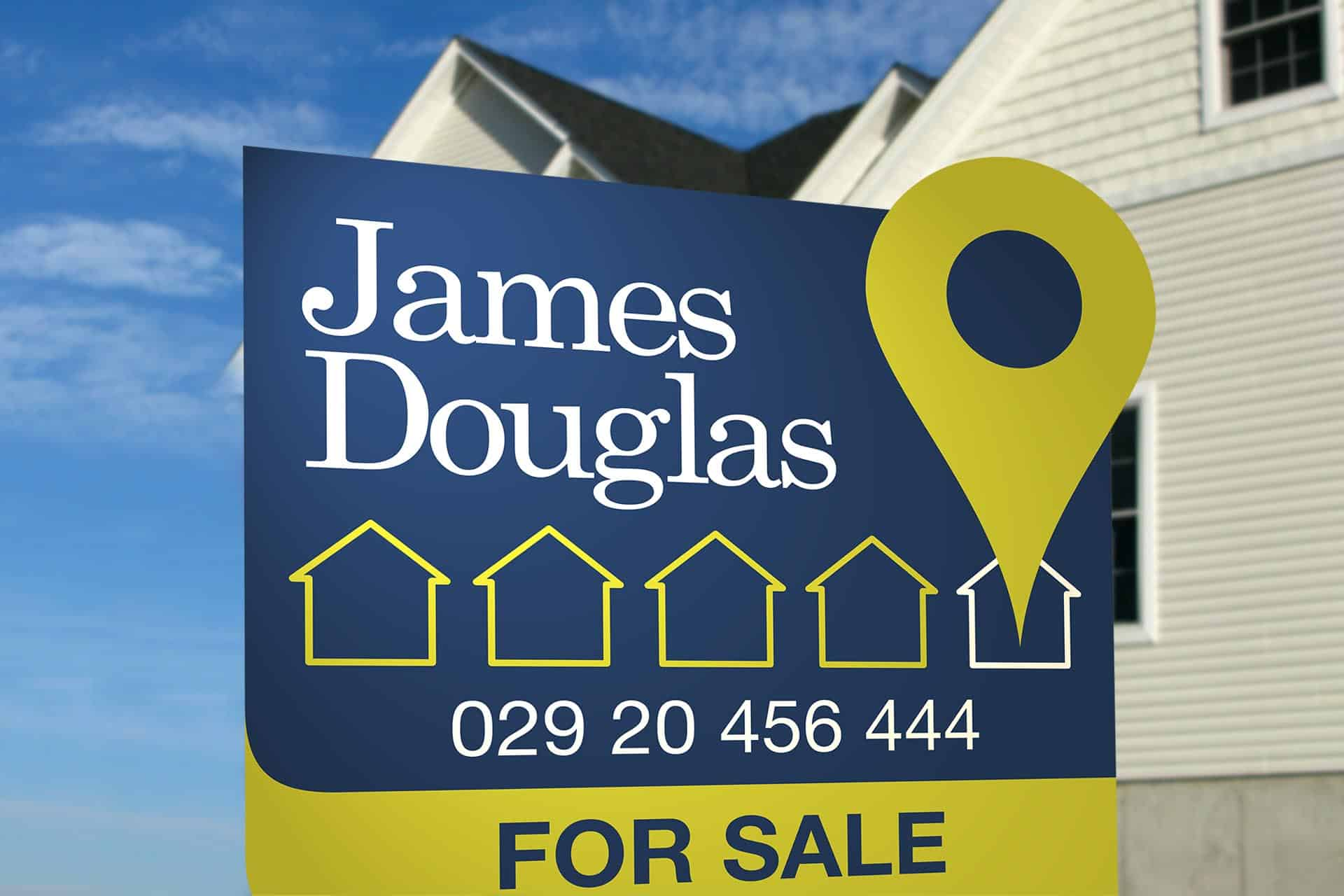 James Douglas Estate Agents branding and logo design