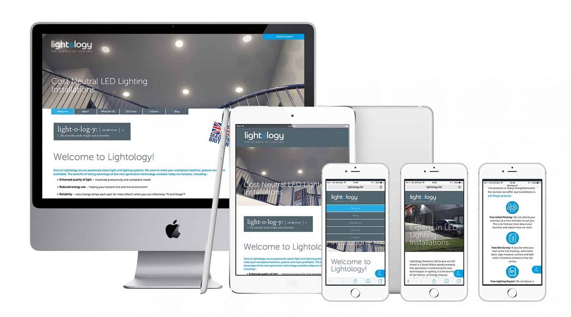 Lightology responsive website design