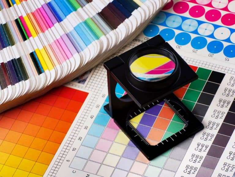 Press colour management - print production