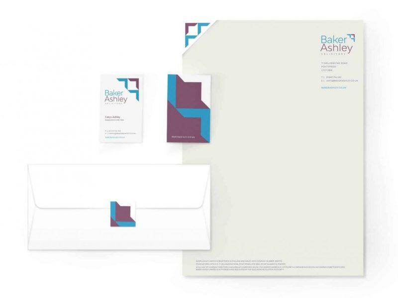 Baker Ashley Brand Identity and Stationery design
