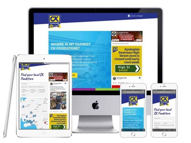 CK Foodstores Responsive website