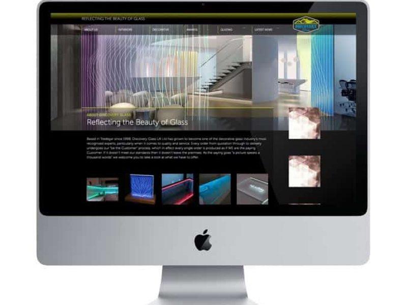Discovery Glass website design