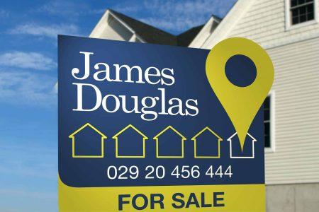 James Douglas Estate Agents branding and logo design