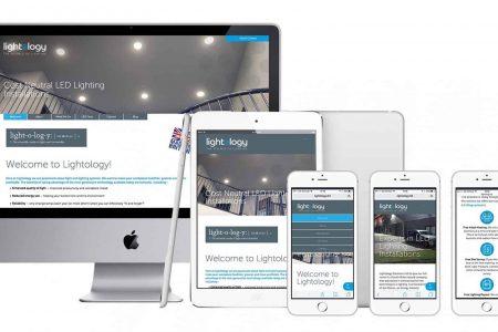 Lightology responsive website design