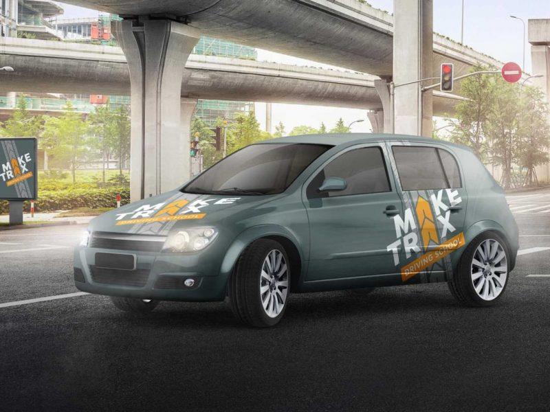 Make Trax Driving School branding and logo design