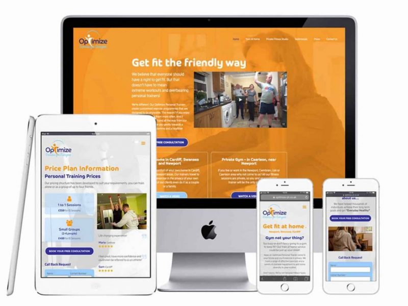 Optimise Personal Training Responsive web site